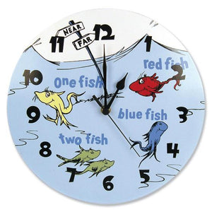 Dr. Seuss One Fish Two Fish Wall Clock
