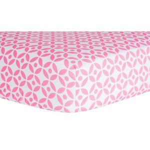 Lily Lattice Fitted Crib Sheet