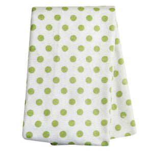 Sage Dot Deluxe Flannel Swaddle Blanket