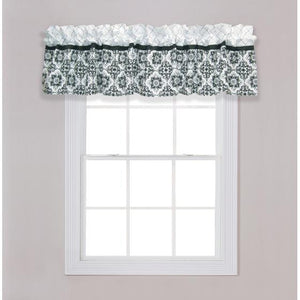 Versailles Black and White Window Valance