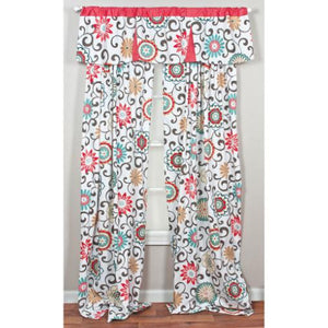 Waverly Pom Pom Play Floral Window Drape