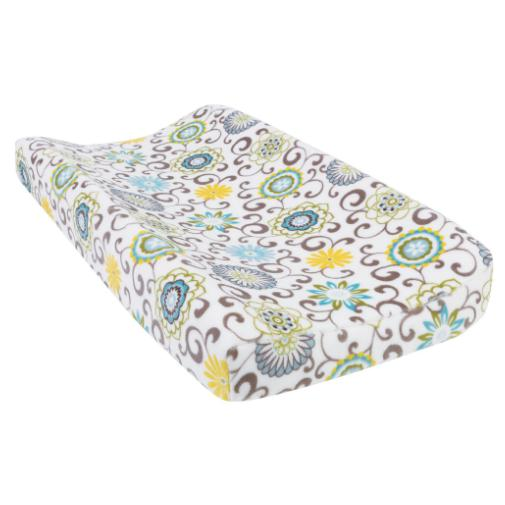 Waverly Pom Pom Spa Plush Changing Pad Cover