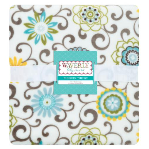 Waverly Pom Pom Spa Plush Throw Blanket
