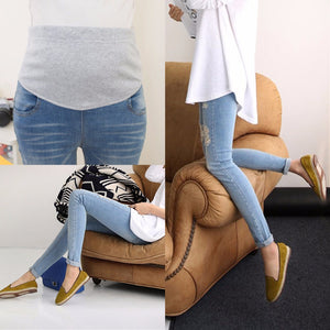Blue Skinny Maternity Jeans, Pregnancy Denim Pants