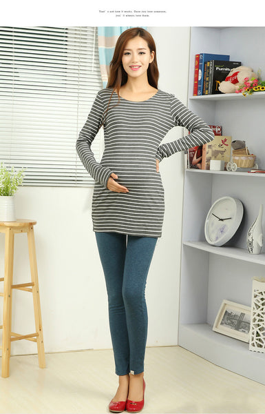 Long Stylish Maternity Leggings, Over-the-bump Pregnancy Sweatpants
