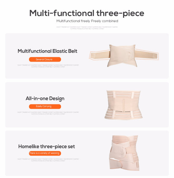 3 Piece Maternity Belly Band, Pregnancy Postpartum Corset Shaper
