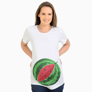 Watermelon Funny Maternity Tshirt, Cute Pregnancy Tee