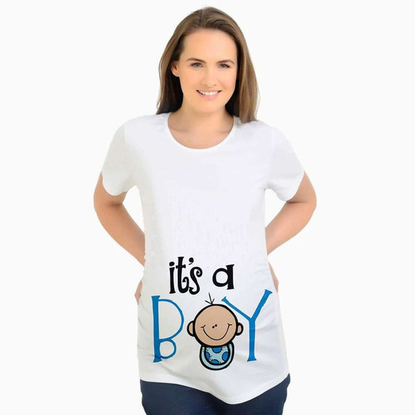 Cute It's a Boy Maternity Top, Funny Pregnancy Tshirts