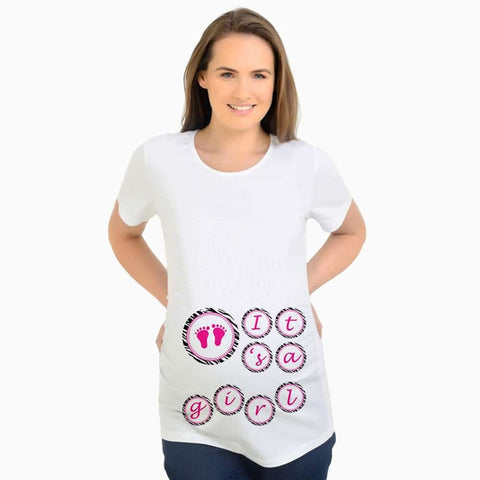 It's a Girl Cute Maternity Tshirt, Girl Pregnancy Tee