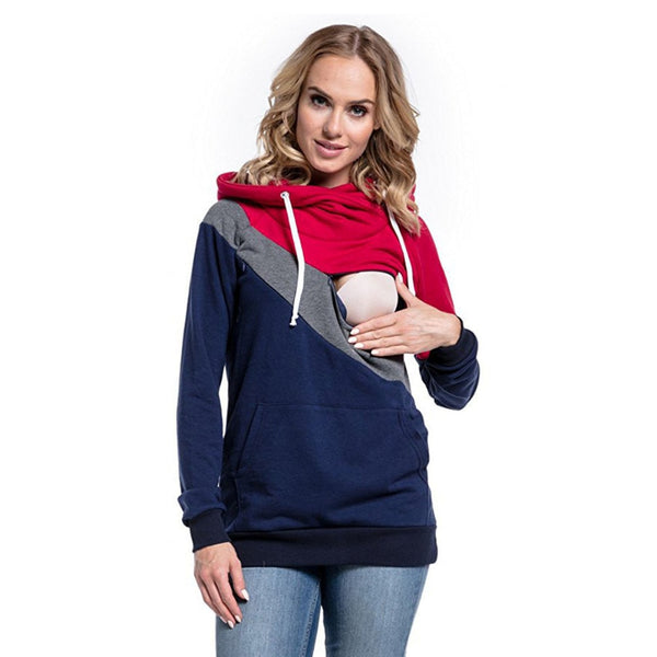 Stylish Maternity Nursing Hoodie, Pregnancy Nursing Sweathshirts