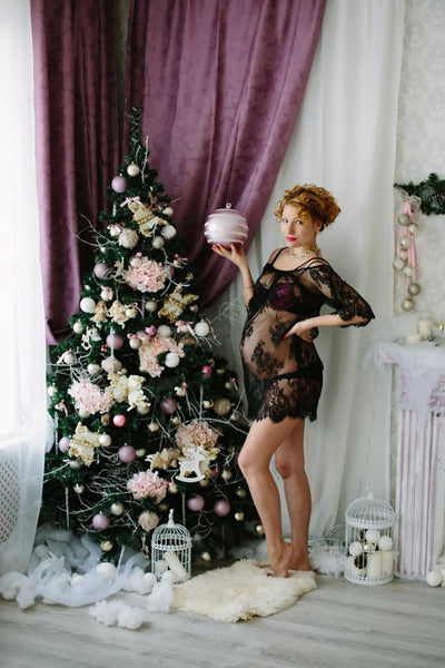 Sexy Lace Pregnancy Photoshoot Dress, Petite Maternity Dress