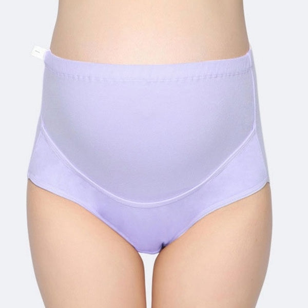 High Waist Adjustable Pregnancy Underwear, Pink/Gray/Purple