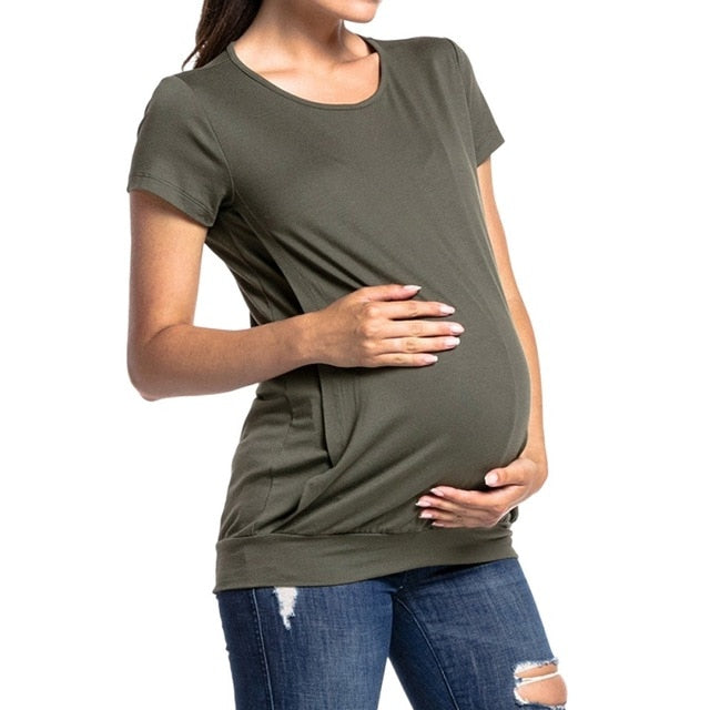 Casual Maternity Nursing Top, Simple Feeding Top