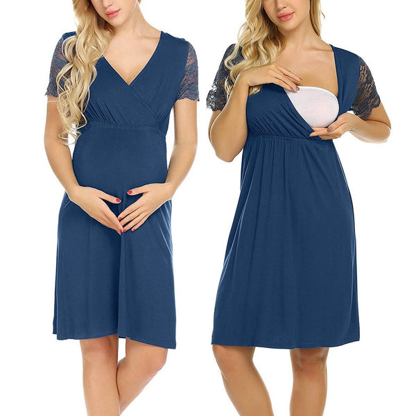 Breastfeeding Maternity Dress, Casual Nursing Dress
