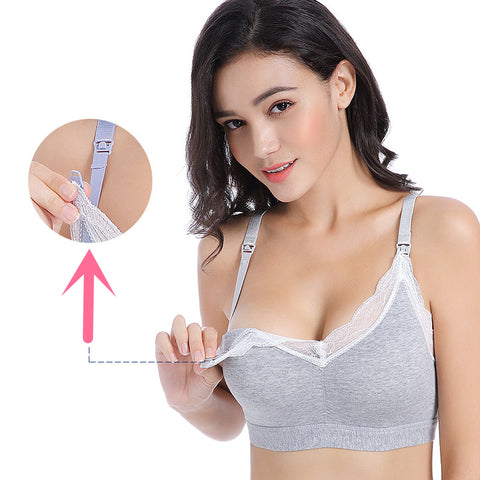 Nursing Sports Bra, Maternity Breastfeeding Cotton Bra