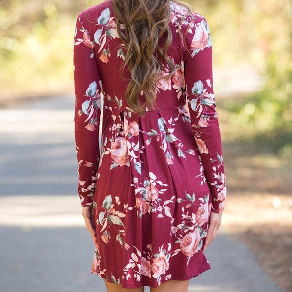 Floral Spring Maternity Dress, Petite Office Pregnancy Wear