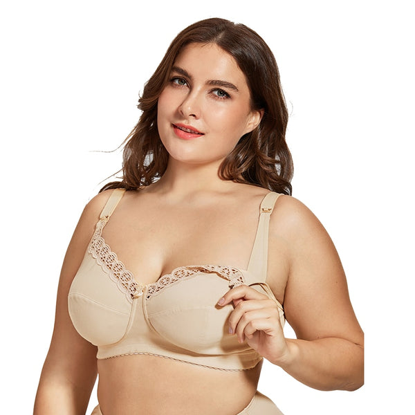 Plus Size Nursing Bra, Comfortable Maternity Breastfeeding Bra