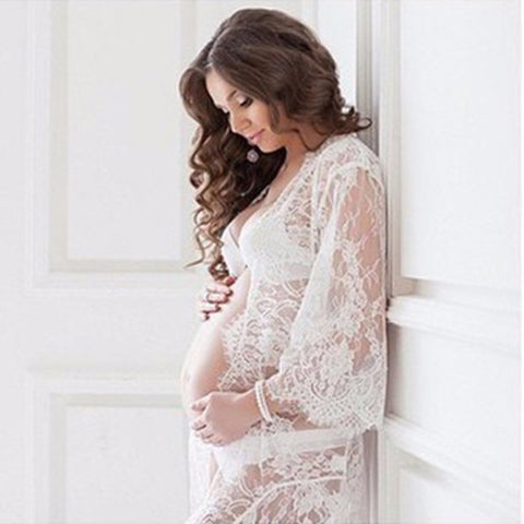 Cheap & Sexy Lace Maternity Dress for Pregnancy Photoshoot