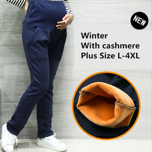 Trendy Winter Maternity Pants, Cashmere Cotton Pregnancy Warm Pants