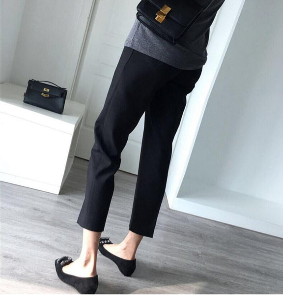 Loose Maternity Pants Trousers, Comfortable Pregnancy Work Pants