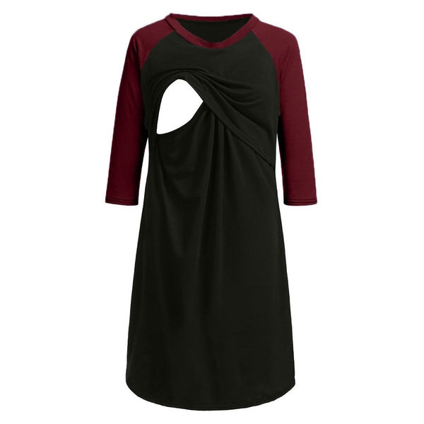 Comfortable Maternity Nursing Nightgown for Pregnant Women