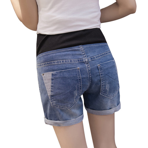 Denim Maternity Shorts for Pregnant Women