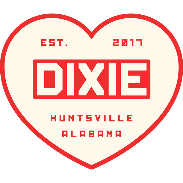 Dixie Heart Sticker