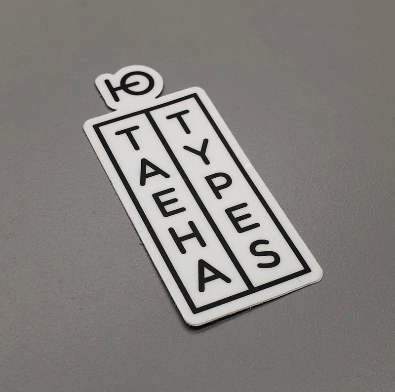 Taeha Types Logo Sticker