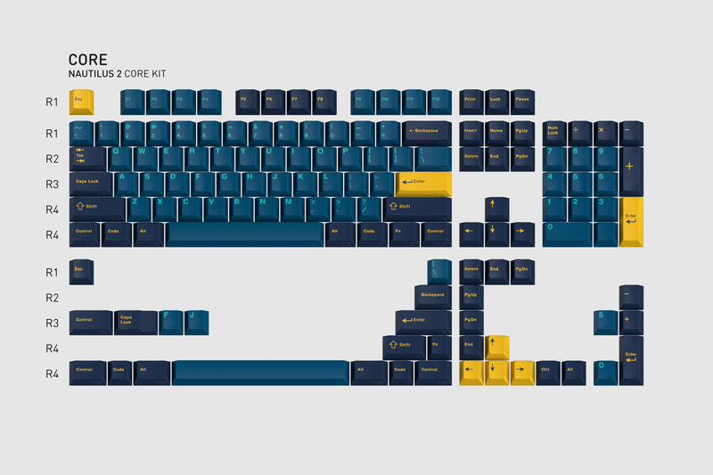 GMK Nautilus 2 Core Kit