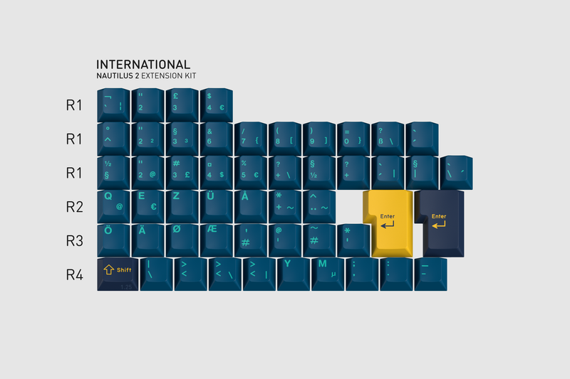 GMK Nautilus 2 International Kit