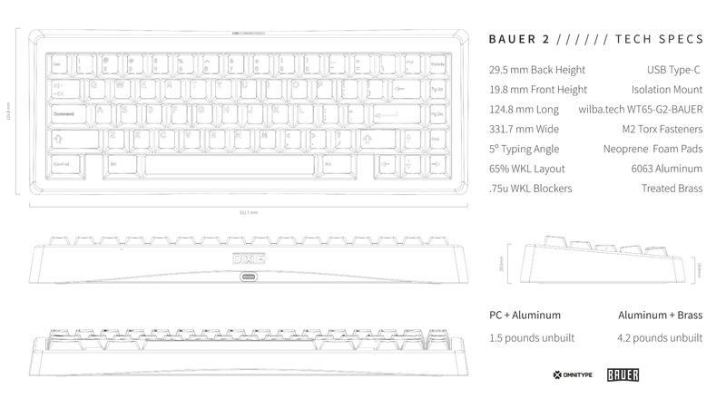 Bauer 2 Keyboard Kit