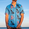 Print Brains Aloha Mortar Button Down / Blue / XS ALOHA MORTAR