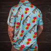Print Brains Button Down Shirt Aloha AUG