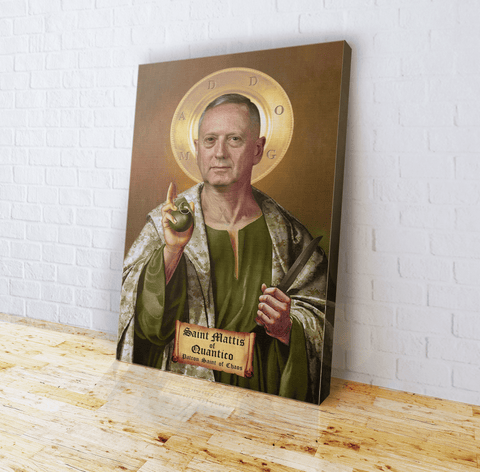 St. Mattis The Patron Saint of Chaos - Canvas