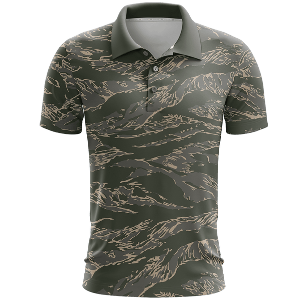 Tiger Camo Golf Polo