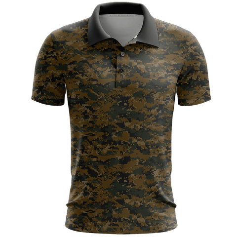 Woodland Digital Camo Golf Polo