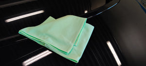 "GLASS CARE ""scratchless"" 55 x 63 cm Green Towel"