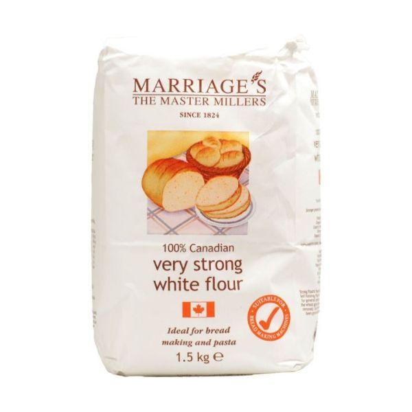 Marriages 100% Canadian White Flour  Very Strong 1.5kg x 5