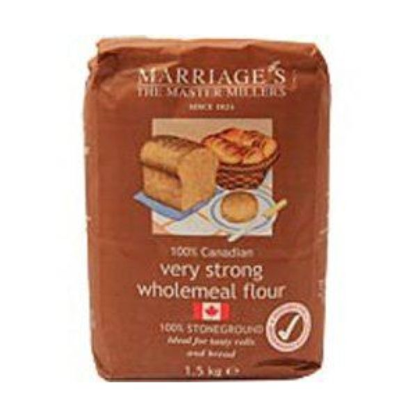 Marriages 100% Canadian Wholemeal Flour  Very Strong 1.5kg x 5
