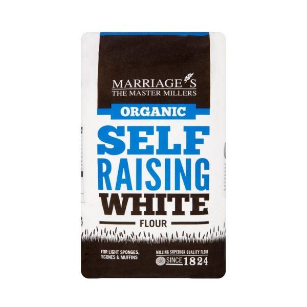 Marriages Organic White Self Raising Flour 1kg x 6