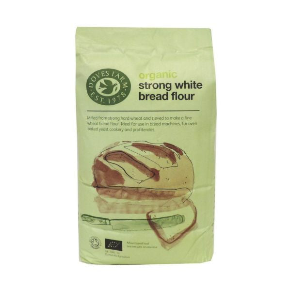 Marriages Organic Strong White Bread Flour 1kg x 6