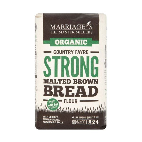 Marriages Country Fayre Strong Malt Brown Bread Flour 1kg x 6