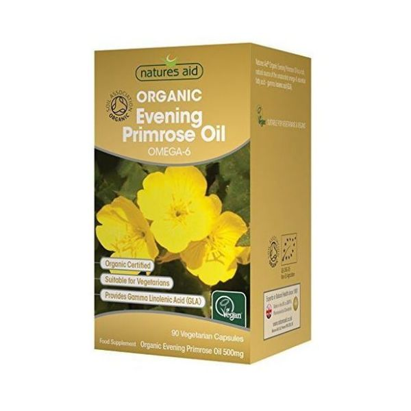 Natures Aid Organic Evening Primrose Oil 90s