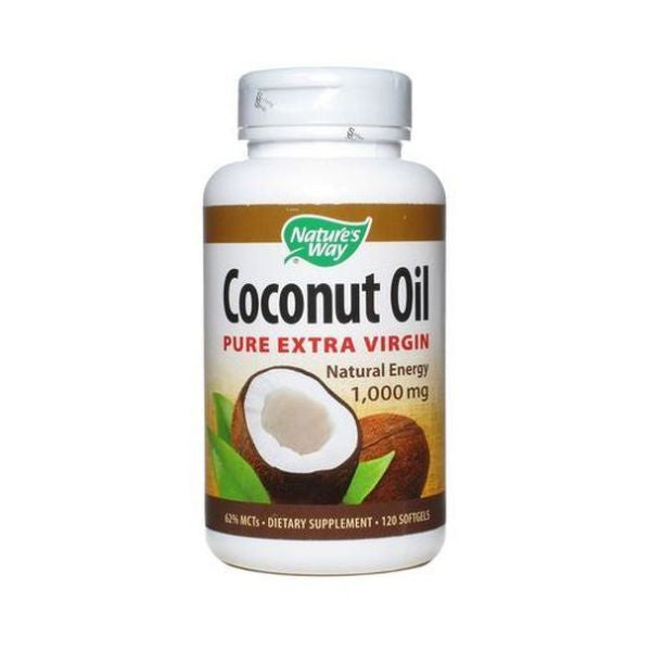 Natures Way Extra Virgin Coconut Oil  Semi Solid 120s
