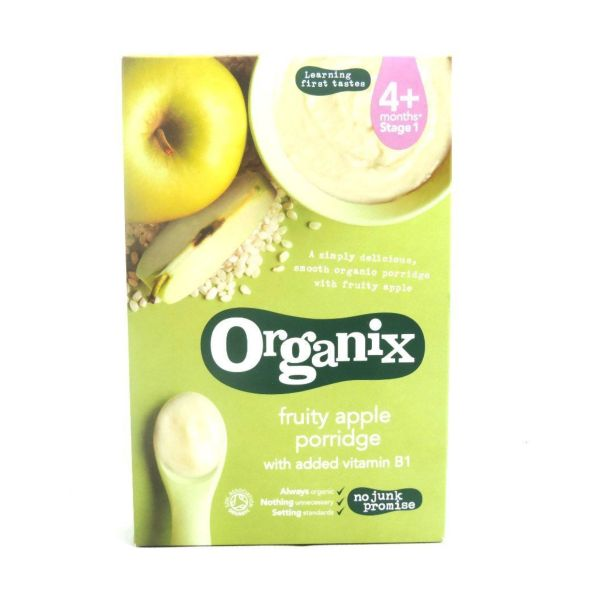 Organix Fruity Apple Porridge (4+) 120g x 5