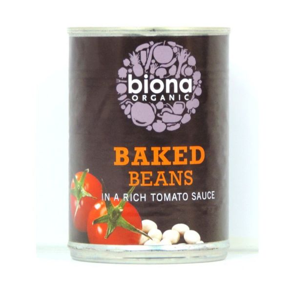 Biona Baked Beans In Tomato Sauce  Can 420g x 6
