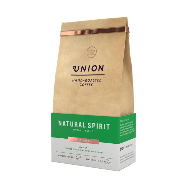 Union Coffee Natural Spirit Organic Blend Whole Bean 200g