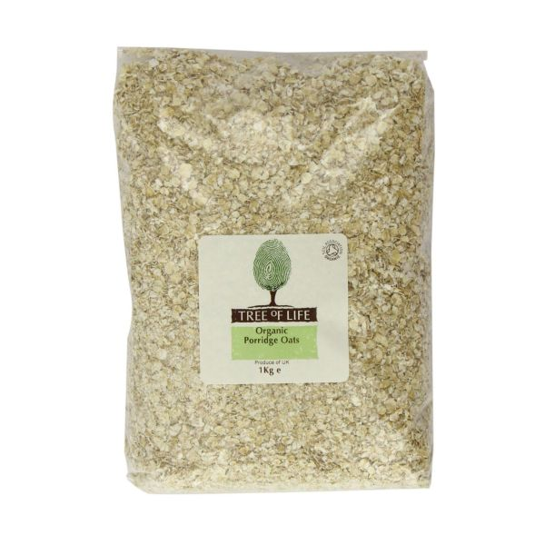 Tree Of Life Organic Oats  Porridge 1kg x 6