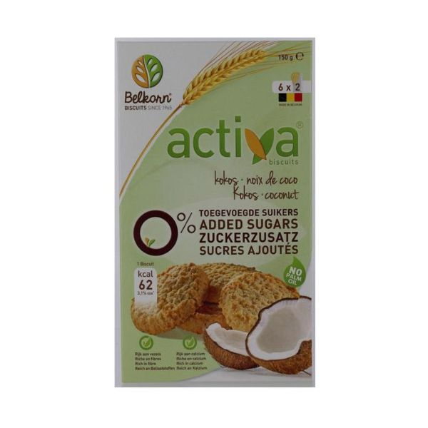 Activa Coconut Biscuits  No Added Sugar 150g