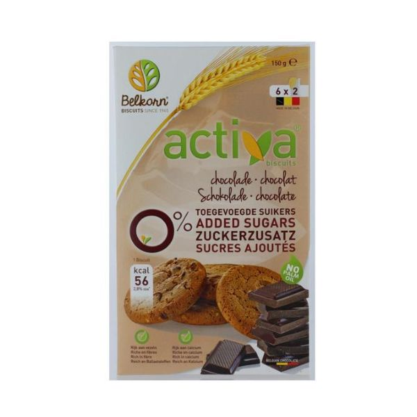 Activa Chocolate Biscuits  No Added Sugar 150g